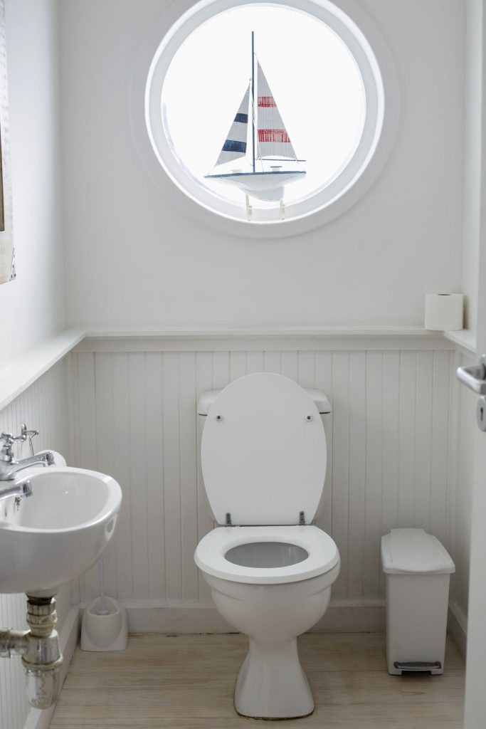 Install a half bath in a she shed