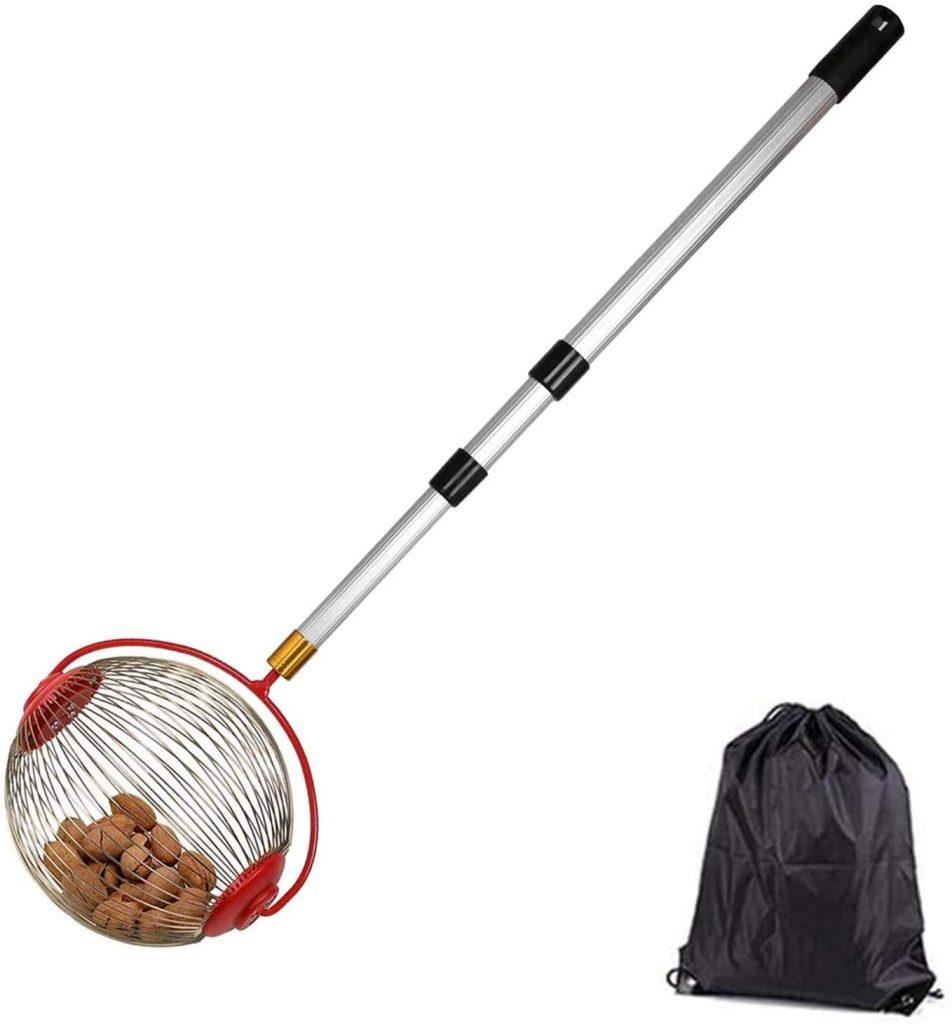 Nut gatherer tool to pick acorns