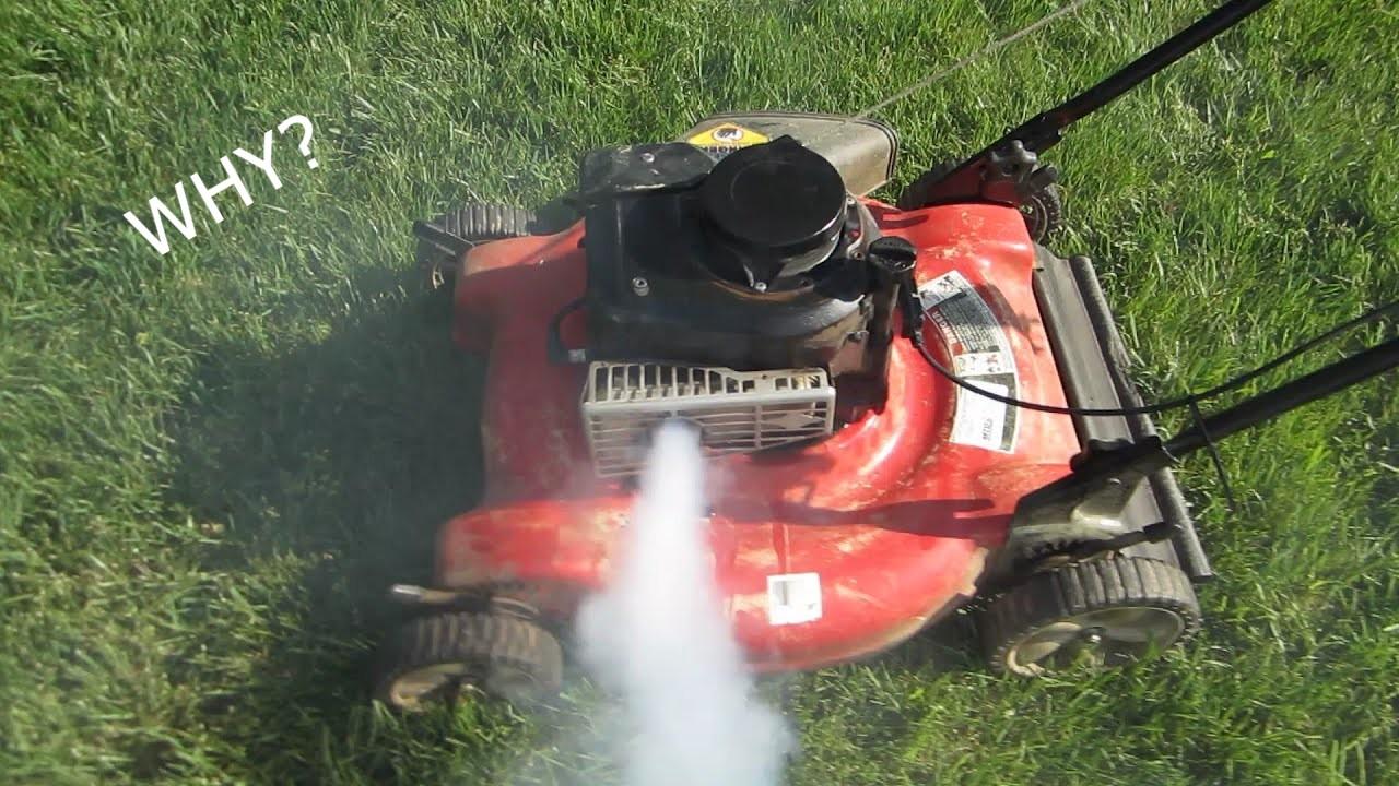 mower engine blow