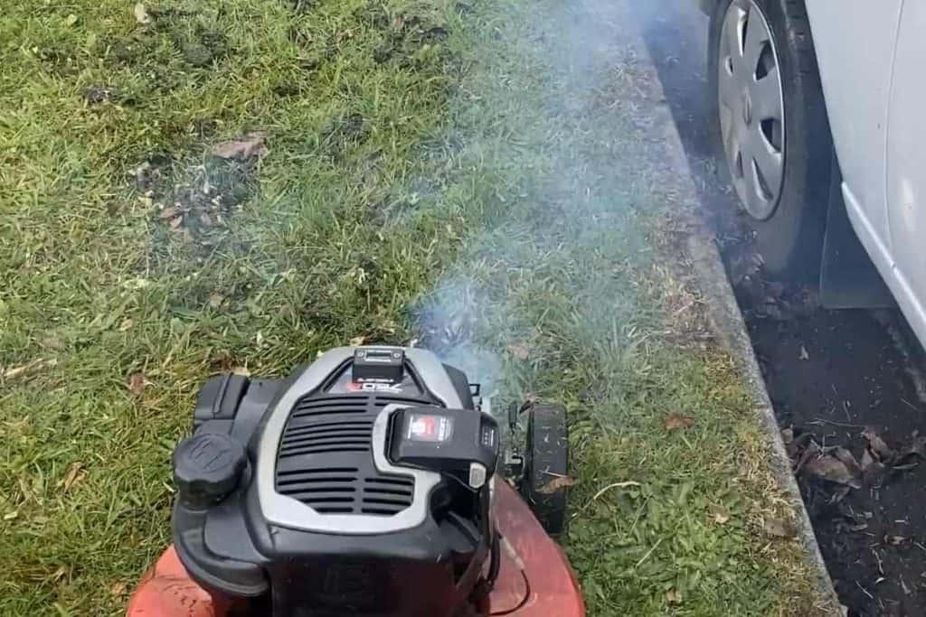 engine blowing blue smoke