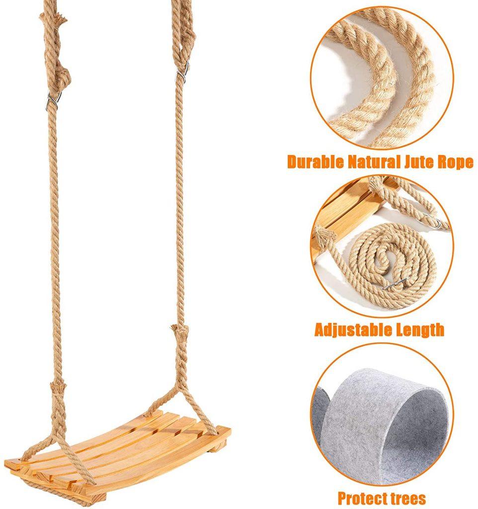 Traditional Wooden Swing - the best tree swing